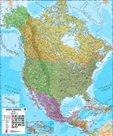 Amerika -sever- politické rozdělení - nástěnná mapa - 1:7 000 000
