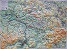 Českosaské Švýcarsko, Labské pískovce, Lužické hory-západ - reliéfní nástěnná mapa - 1:50 000