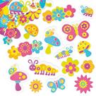 Samolepky pěnové - Rozkvetlá zahrada - 100 ks