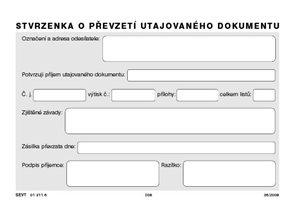 Stvrzenka o převzetí utajovaného dokumentu