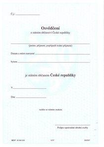 Osvědčení o státním občanství - Správní řád 06