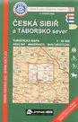 Česká Sibiř a Táborsko sever - mapa KČT č.41 - 1:50t