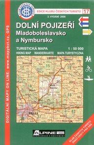 Dolní Pojizeří, Mladoboleslavsko a Nymbursko - mapa KČT č. 17 - 1:50t