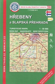 Hřebeny a Slapská přehrada - mapa KČT č.38 - 1:50t