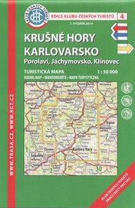 Krušné hory - Karlovarsko - mapa KČT č.4 - 1:50t