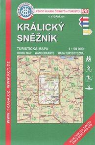Králický Sněžník - mapa KČT č.53 - 1:50t /Jeseníky/