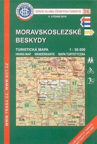 Moravskoslezské Beskydy - mapa KČT č.96 - 1:50t