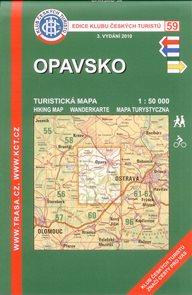 Opavsko - mapa KČT č.59 - 1:50t