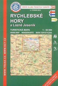 Rychlebské hory a Lázně Jeseník - mapa KČT č.54 - 1:50t