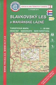 Slavkovský les a Mariánské Lázně - mapa KČT č.2 - 1:50t