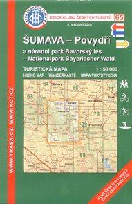 Šumava - Povydří, NP Bavorský les - mapa KČT č.65 - 1:50t