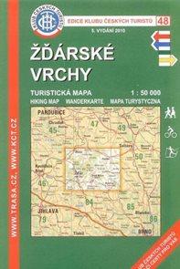 Žďárské vrchy - mapa KČT 48 - 1:50t