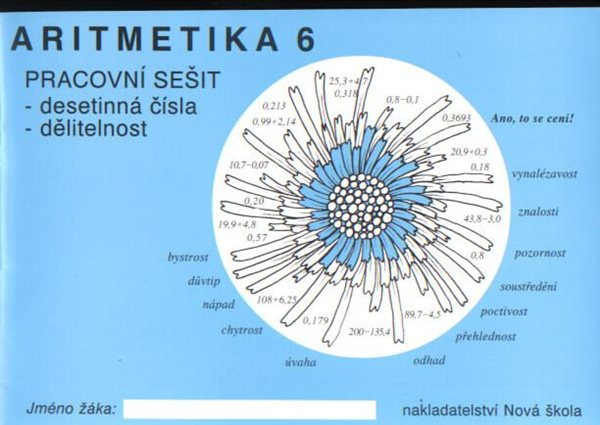 Aritmetika 6.r. pracovní sešit - desetinná čísla, dělitelnost - Rosecká Zdena - brožovaná