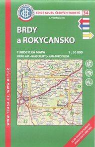 Brdy a Rokycansko - mapa KČT č.34 - 1:50t