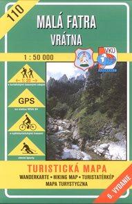 Malá Fatra - Vrátna - mapa VKÚ č.110 - 1:50 000 /Slovensko/