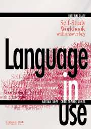 Language in Use intermediate Workbook with key