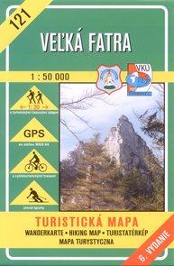 Velká Fatra - mapa VKÚ č.121 - 1:50 000 /Slovensko/