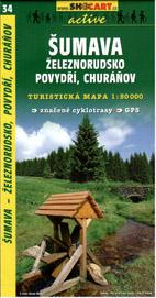 Šumava - Železnorudsko, Povydří, Churáňov - mapa SHc34 - 1:50t
