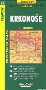Krkonoše - mapa SHc č.24 - 1:50t
