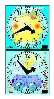 Dětské papírové hodiny - A4