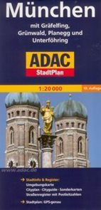 München /Mnichov/ - plán ADAC 1:20t
