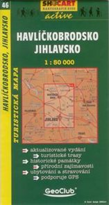 Havlíčkobrodsko, Jihlavsko - mapa SHc46 - 1:50t