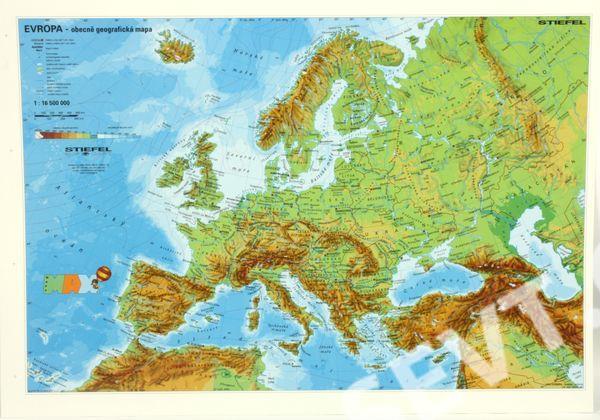evropa mapa Evropa fyzická/politická   mapa A3   SEVT.cz evropa mapa