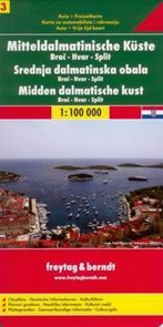 Chorvatsko - Dalmácie č.3 - mapa Freytag - 1:100 000