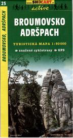 Broumovsko, Adršpach - mapa SHc25 -  1:50t
