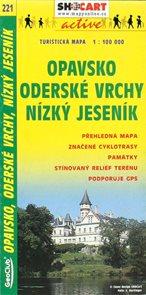 Mapa (221) Opavsko, Oderské vrchy, Nízký Jeseník  1:100 000 2003