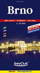 Brno - mapa města 1:16 000