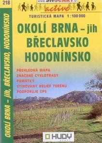 Okolí Brna - jih, Břeckavsko, Hodonínsko - mapa Shocart č.218 - 1:100t