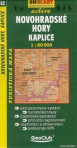 Novohradské hory, Kaplice - mapa SHc42 - 1:50t