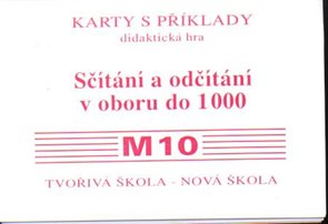 Sada kartiček M10 - sčítání a odčítání v oboru 1000