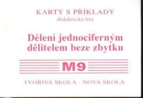 Sada kartiček M9 - dělení jednociferným dělitelem beze zbytku