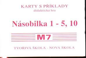 Sada kartiček M7 - násobilka 1-5,10