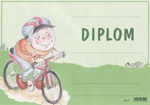 Diplom A4 - Cyklisti nové