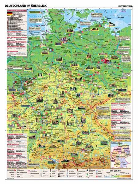 Deutschland im Uberblick/Geschichte und Gegenwart - tabulka A3 - lamino (42×30 cm)