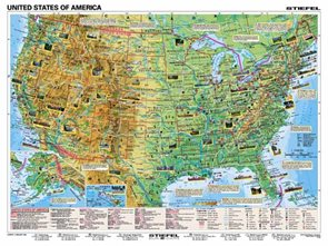 Basic Facts about the USA - mapa A3