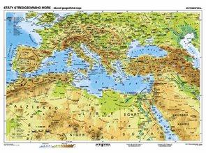 Státy Středozemního moře - obecně geografická - mapa A3