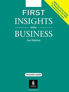 First Insights into Business TB New Revision