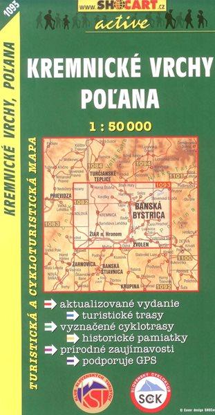 Kremnické vrchy,Poľana - mapa SHc - 1:50 000