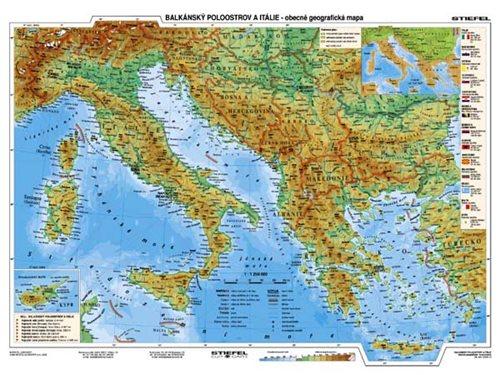Balkan Italie Recko Obecne Geograficka Mapa Hospodarska Mapa