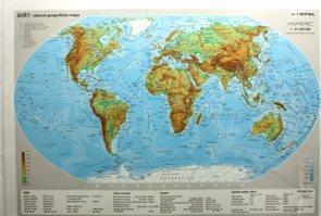 Svět - obecně geografická mapa /A2 lamino/