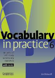 Vocabulary in Practice 6 Upper-intermediate