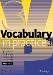 Vocabulary in Practice 3 with tests - Pye Glennis - A5, brožovaná, Sleva 25%