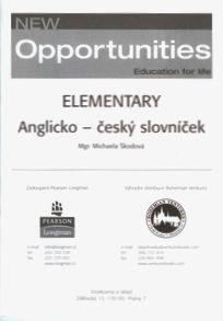New Opportunities Elementary anglicko - český slovníček