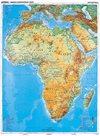 Afrika - obecně geografická mapa/politická mapa