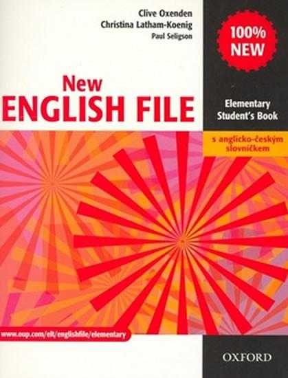 New English File elementary Students Book s anglicko-českým slovníčkem - Oxenden C., atham-Koenig Ch., Seligson P - A4, brožovaná