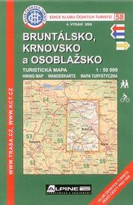 Bruntálsko, Krnovsko a Osoblažsko - mapa KČT č.58 - 1:50t